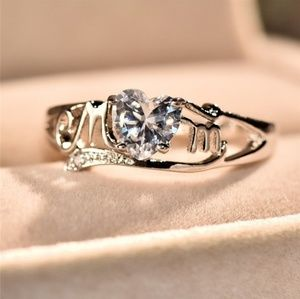Mom silver ring
